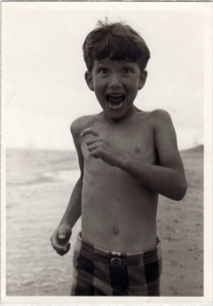 Tony Sherin as a happy, smiling, enthusiastic child